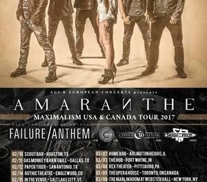 Amaranthe announce 2017 North American Tour