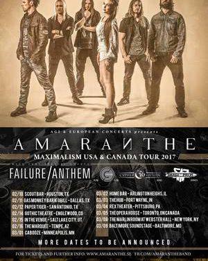 Amaranthe announce 2017 North American Tour