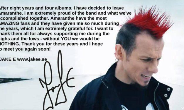 Vocalist Jake E has left Amaranthe