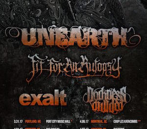 Unearth Announces North American Tour Dates