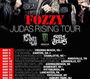 Fozzy Announces U.S. Tour Dates
