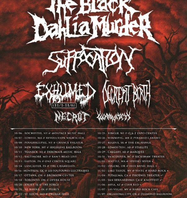 The Black Dahlia Murder Announces Fall North American Tour Dates
