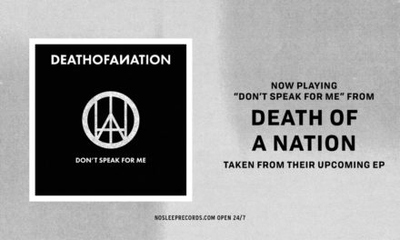 "Death Of A Nation post track ""Don't Speak For me"""