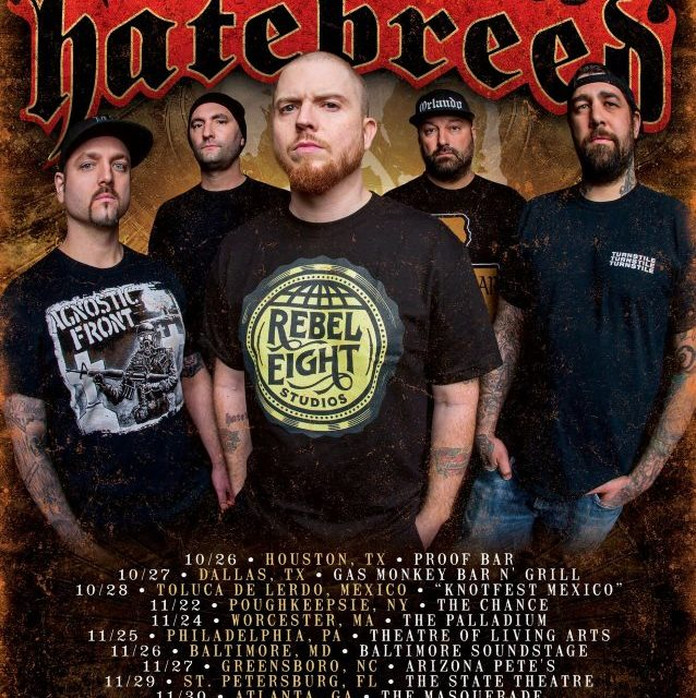 Hatebreed Announces Fall Tour Dates
