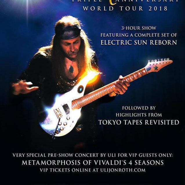 "Uli Jon Roth releases ""Triple Anniversary North American Tour 2018"""