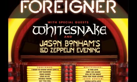Foreigner announced a 2018 tour w/ Whitesnake, and Jason Bonham