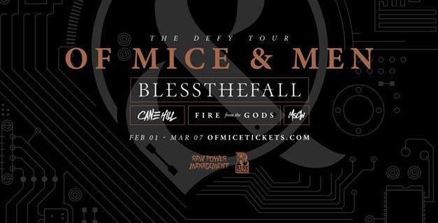 Of Mice & Men announced a 2018 tour w/ BlessTheFall, Cane Hill, and Fire From the Gods