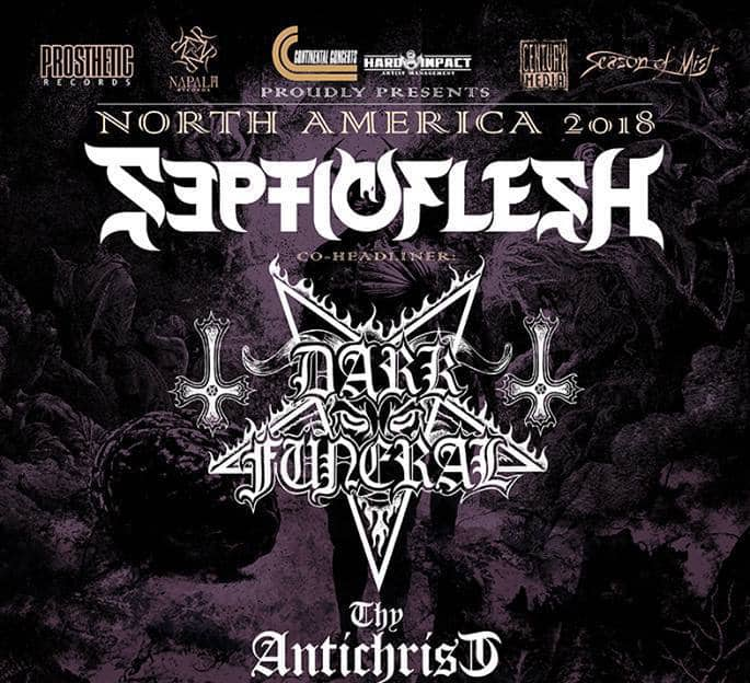 Septicflesh announced a 2018 tour with Dark Funeral, and Thy Antichrist