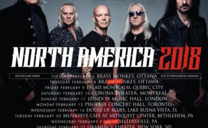 Uriah Heep announced a 2018 tour