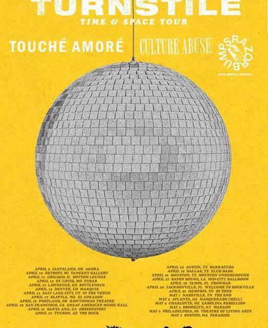 Turnstile announced a tour w/ Touche Amore, Culture Abuse, and Razor Bumps