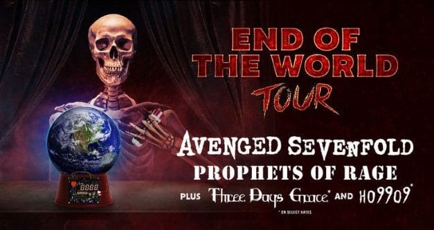 Avenged Sevenfold announces tour w/ Three Days Grace, Prophets of Rage, and Ho99o9