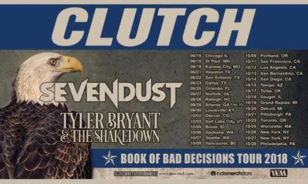 Clutch announced a tour with Sevendust and Tyler Bryant & The Shakedown