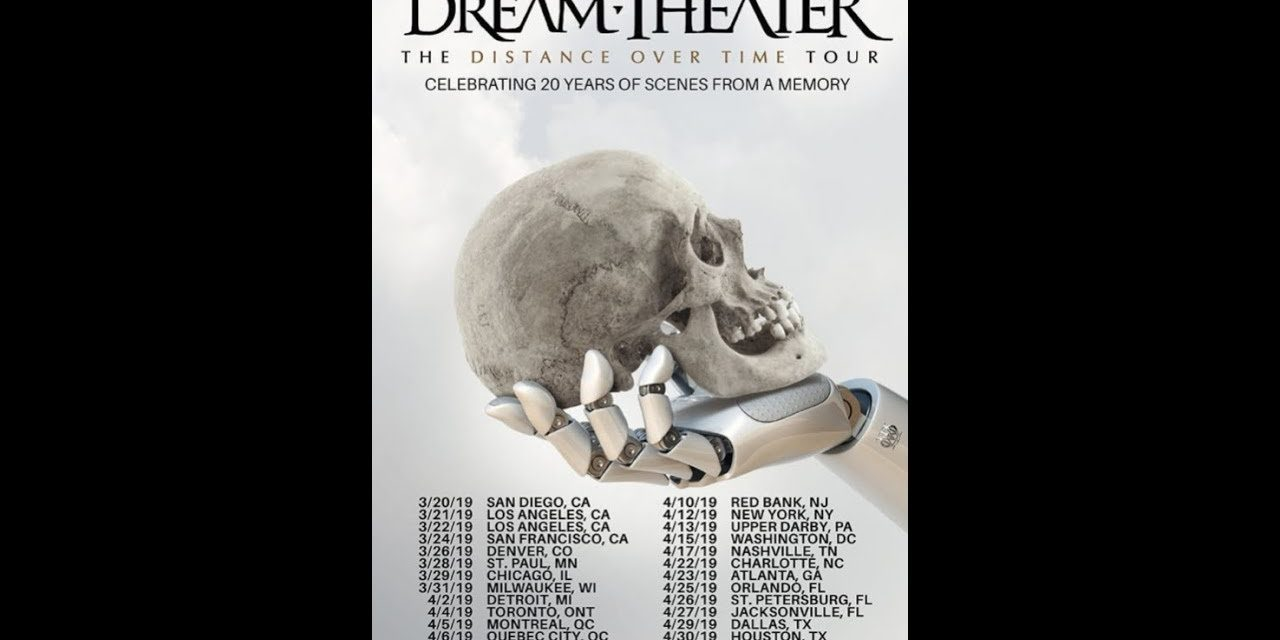 "Dream Theater announced ""The Distance Over Time Tour: Celebrating 20 Years of Scenes From a Memory"""