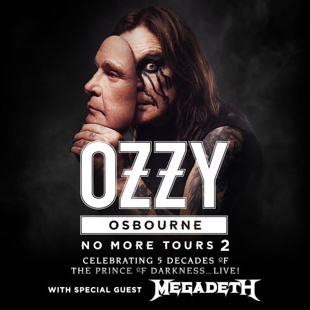 "Ozzy announced additional dates for ""No More Tours 2"" w/ Megadeth"