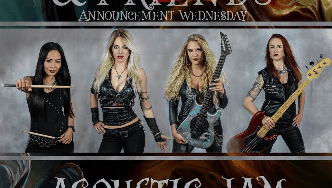 """BURNING WITCHES Announces """"Corona Live Acoustic Jam From The Studio"""""""