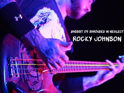 PINK SOCK PODCAST Live Interview with ROCKY JOHNSON of SHROUDED IN NEGLECT